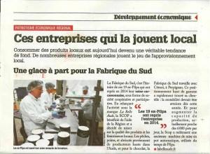La belle aude dans le journal Occitanie