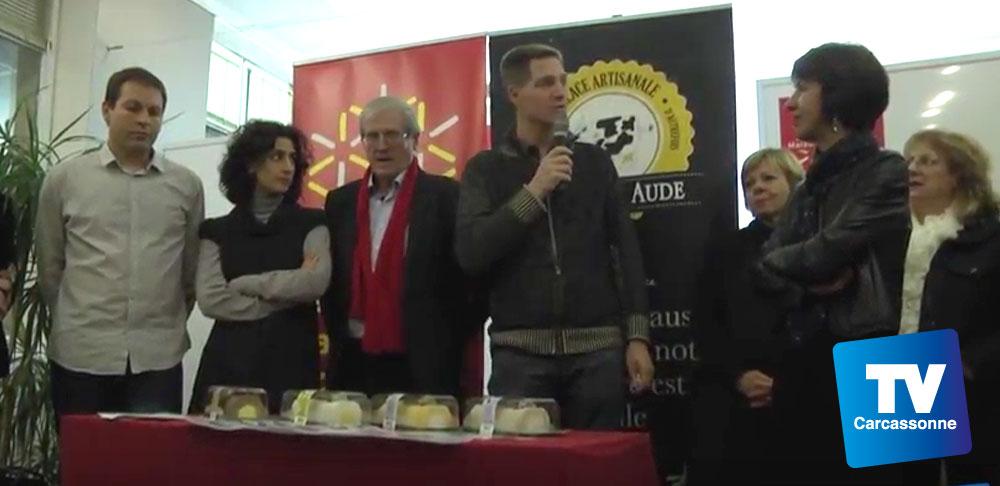 Présentation des nouvelles bûches glacées par TV Carcassonne