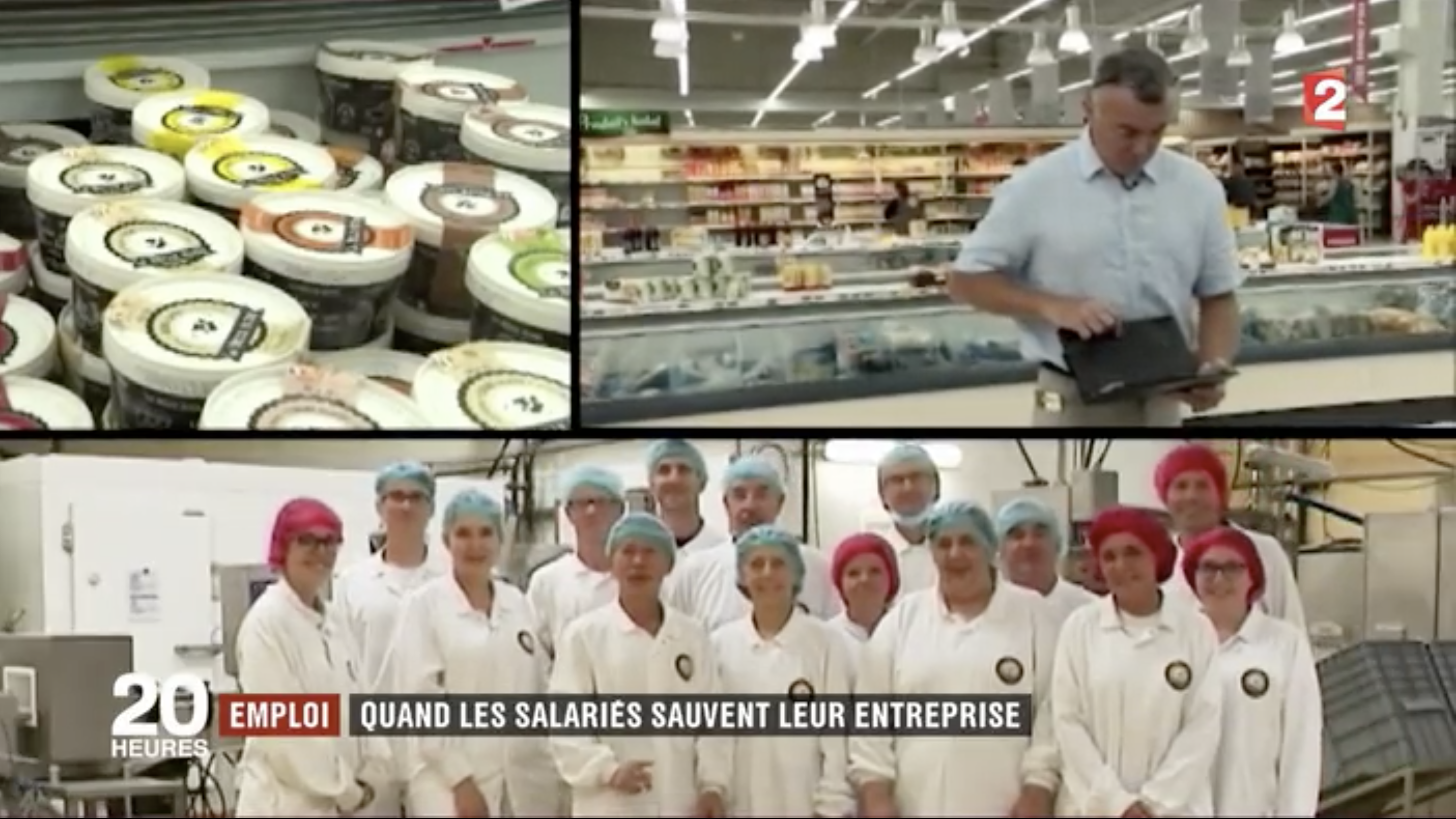 Reportage France2 sur les Glaces La Belle Aude