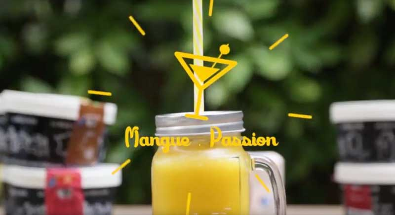Cocktail Mangue Passion – Glaces La Belle Aude