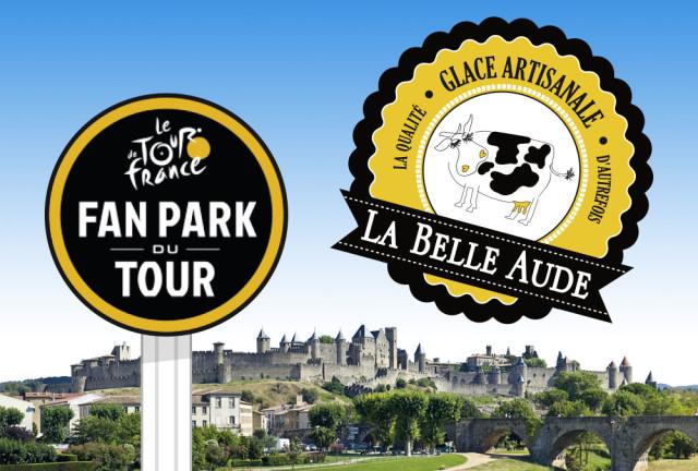 La Belle Aude présente au Fan Park du Tour !