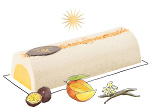 Buche-vanille-mangue-passion