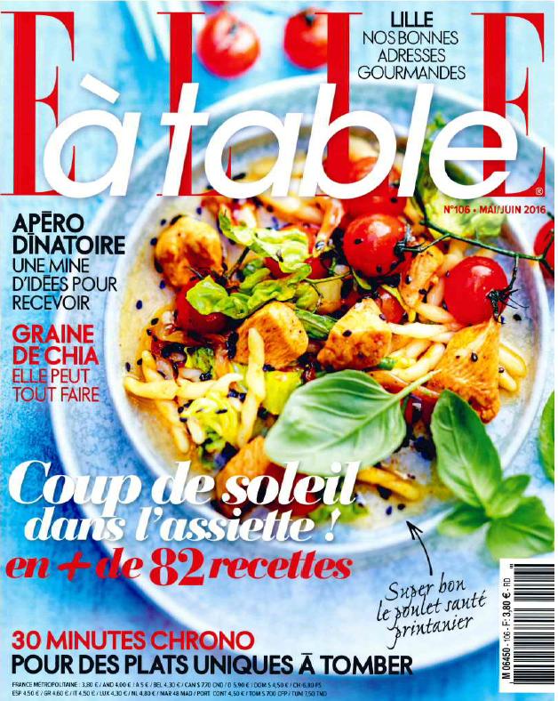 La glace au yaourt bulgare La Belle Aude dans ELLE à table