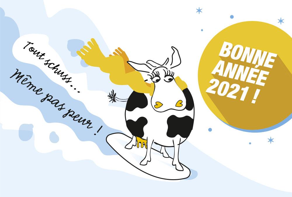 Les coopérateurs glaciers vous souhaitent une bonne année 2021 !